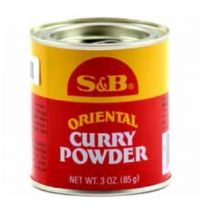 S&B 3 OZ CAN CURRY POWDER 6/12